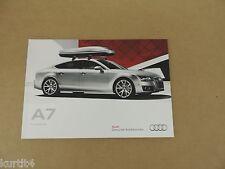 2012 Audi A7 Accessories Brochure sales brochure dealer catalog literature