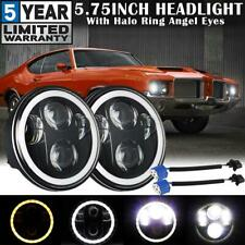 "2x 5.75"" 5-3/4"" LED Headlights DRL Halo Angel Eyes Projector Lamp for Oldsmobile"