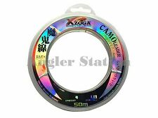 Xzoga Camo Leader 30lb/50m Fishing Leader Line - Milky White