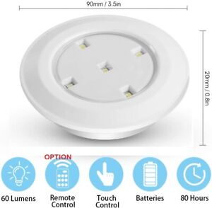 UK LED Battery Puck Lights Wireless Dimmable Closet Lights Option Remote Control