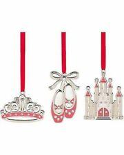 Lenox Jeweled Princess Set of 3 Metal Ornaments 853417 (new In Original Box)