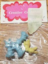 "Vtg Pkg Creative Crafts Miniature Rabbit Bunny Figurines Fairy Garden Easter 1"""