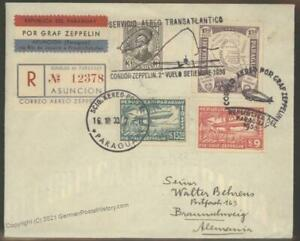 Paraguay 1933 Germany Zeppelin Airmail SAF Flown Si234 Cover 103389