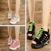 Women Girl Sandals Hollow Slippers Open Toe Summer Sneakers Platform Wedges
