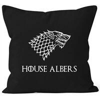 Kissen-Bezug mit Namen House und Wunschname Wappen Große Häuser SpecialMe®