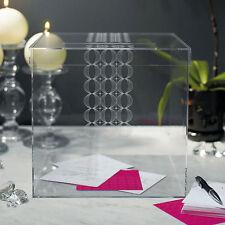 Circle of Love Clear Acrylic Wishing Well Wedding Reception Card Box Q16793