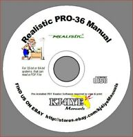 Realistic PRO-36 CD OWNER'S MANUAL 20-137 Radio Scanner CD ONLY