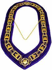 NEW 33rd Degree Masonic Chain Collar Scottish Rite Jewel Regalia Purple Velvet ~