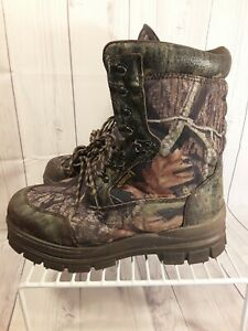 Cabelas Thinsulate 1200g Aquashield Camo Lace Up Hunting Boots Mens 11.5 M