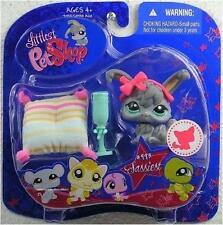 Littlest Pet Shop Hasbro Sassiest Gray ANGORA BUNNY lot #993 Rare Retired NIB