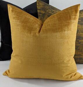 "Iliv Interior Azurite Velvet in Apricot / Golden Fabric Cushion Cover 18x18"""