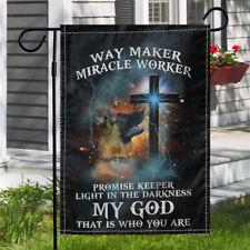 New listing German Shepherd Dog Jesus Way Maker Miracle Worker My God Outdoor Garden Flag
