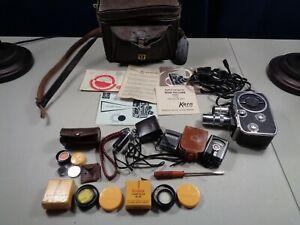 Estate Paillard Bolex B8 Movie Camera w/Acc Papers Filters Lenses