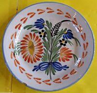 Ancienne assiette les ISLETTES 19 ème deco floral   FAIT MAIN ,un éclat