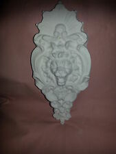 Ornate Lion Face rubber latex mould mold wall decor plaque plaster concrete new