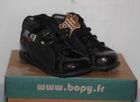 BOPY -  Zeflow  - Chaussures bébé Fille -  Cuir noir T 22 neuf
