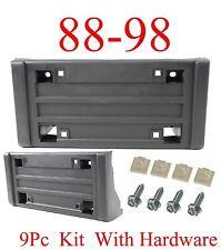 9Pc 88 98 Chevy GMC Front License Plate Bracket W Hardware Truck Tahoe Yukon