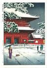 Kasamatsu Shiro Vintage Woodblock Print Zojo Temple