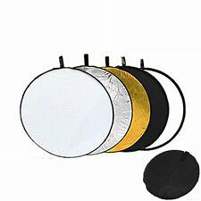 "Godox 24"" 60cm 5 in 1 Collapsible Reflector Round Photo Studio Light Diffuser"