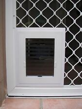 Security Screen PET DOOR - For DOGS up to 10kg & all CATS - WHITE VERSION