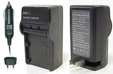 CS Power CGA-S002E DMW-BM7 AC & DC Battery Charger For Panasonic DMC-FZ1 FZ3 FZ5
