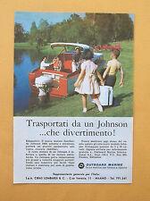D339 - Advertising Pubblicità- 1959 - JOHNSON MOTORI OUTBOARD MARINE