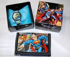 FABULOUS CHILDRENS SUPERMAN WATCH &  WALLET SET NEW