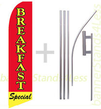 Feather Flutter Swooper Tall Banner Sign Flag 15' Kit - Breakfast Special b