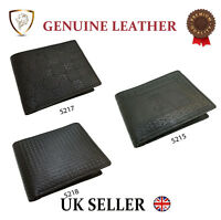 Designer J Wilson Genuine Mens Real Quality Leather Wallet Black Note Purse Box