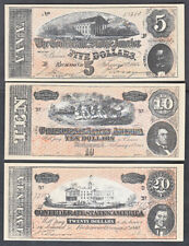 CONFEDERATE STATES REPRODUCTION RICHMOND VIRGINIA NOTES  $5 TO $100,000