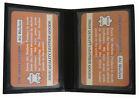 Mens Slim Leather Credit Card 2 ID Wallet Holder Bifold Driver's Licence Safe Bk