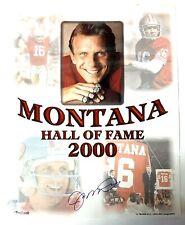 16x20 Joe Montana Signed Auto Autographed Football Ball SF 49ers Photo * READ *