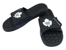 NHL Hockey Toronto Maple Leafs Slide Sandal Beach Shoe, Black/White JVM0556BNH