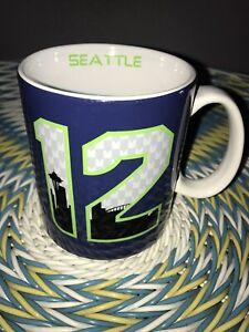 NFL Football Seattle Seahawks 12th man Team Coffee Mug Cup 2 Sided City