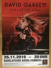 DAVID GARRETT 2 HAMBURG 2016 - orig. Concert Poster - Konzert Plakat  A1  F/U