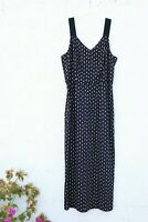 steven alan silk black white summer dress long zipper 8 Large
