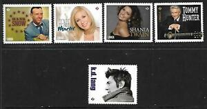 5 x Canada MUH booklet stamps (Ex qtr pack)(Country singers)($3.75 Bargain)