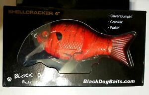 Black Dog Baits Shell Cracker G2 Swimbait/Wakebait RARE CUSTOM ORANGE