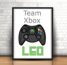 A4 Personalised Team Xbox Print ANY Name Personalised Gift Teenage Boys