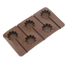 1x Flower Lollipop Mold Silicone Cake Chocolate Candy Baking Decorating Mould
