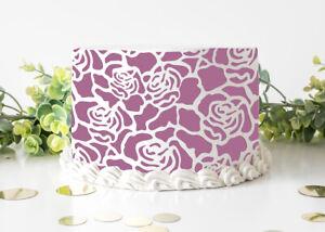 Cake Stencil Rose Pattern Wedding Birthday Selebration Reusable Crafts Art FL117