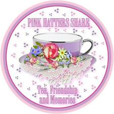 4X PINK T SHIRT PINK HATTERS SHARE TEA & FRIENDSHIP FOR LADIES OF SOCIETY