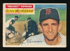 1956 Topps #228 MICKEY VERNON (Boston Red Sox) d.2008 *AUTOGRAPHED* Future HOF
