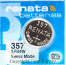 1 pc 357 Renata Watch Batteries SR44W FREE SHIP 0% MERCURY