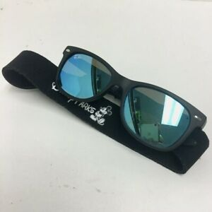 Preowned Ray Ban RJ9052S Matte Black Blue Mirrored Kids Sunglasses 47mm AA3