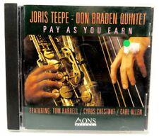 Joris Teepe - Don Braden Quintet - Pay As You Earn - Mons Records CD
