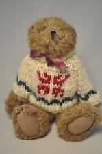 Boyds Bears & Friends - Vintage Bear - White Knit Sweater - 8 Inch Plush