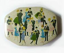 Boîte en tôle lithographiée Danseurs Lithographed Tin Box Dance 1950-1960s
