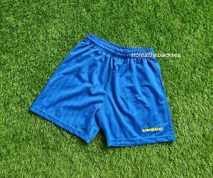 UMBRO 1990'S SHORTS FOOTBALL SOCCER BLUE YELLOW MEN M