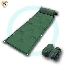 Self Inflating Mattress Camping Hiking Airbed Mat Sleeping w/ Pillow Bag Camp G
